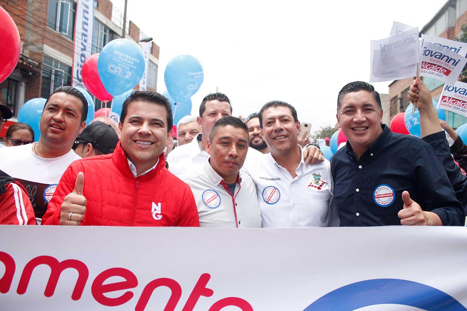 Multitudinario apoyo de los soachunos a Giovanni Ramírez