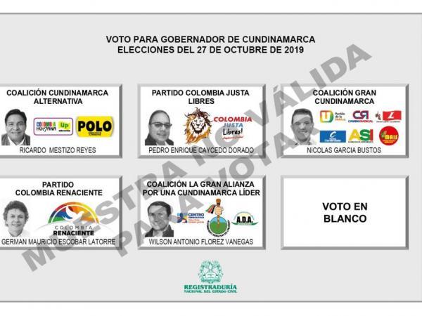 Los candidatos a la Gobernación de Cundinamarca
