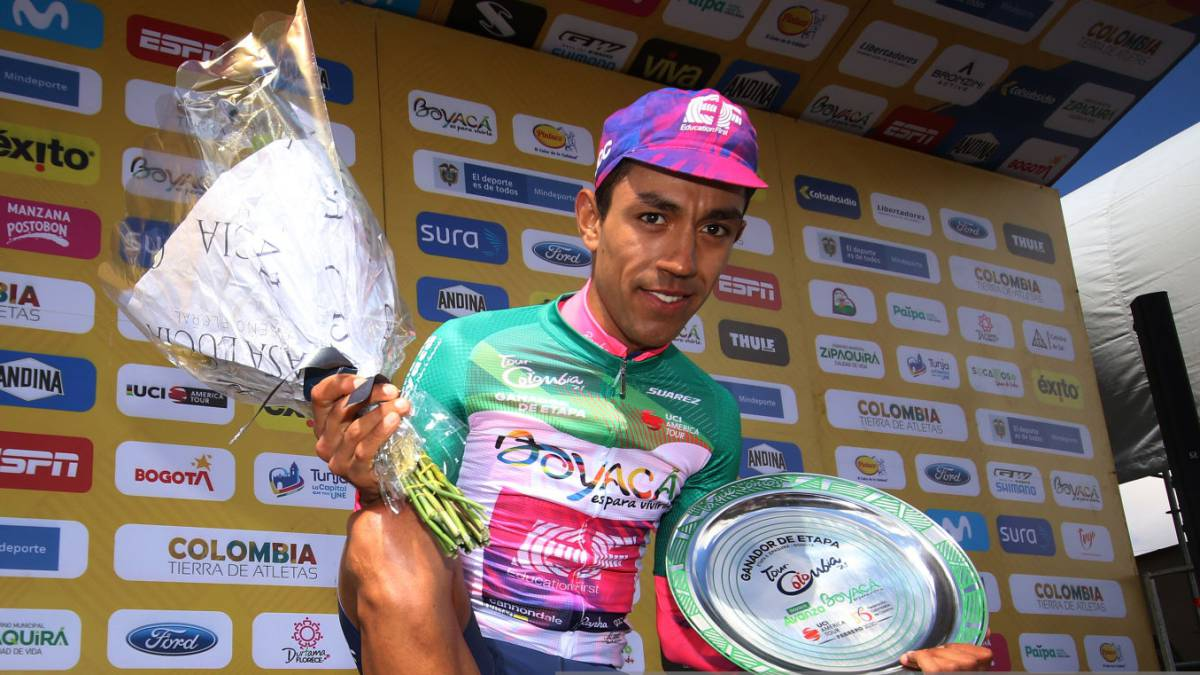 Daniel Martínez, el soachuno que se quedó con la etapa reina del Tour Colombia 2.1