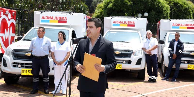 Diez municipios cundinamarqueses tienen, desde hoy, nuevas ambulancias