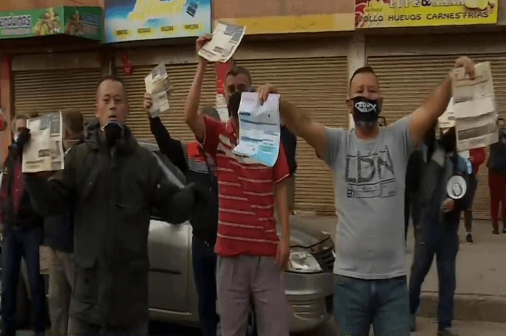 Habitantes de Soacha protestan por exceso de cobro en servicios públicos